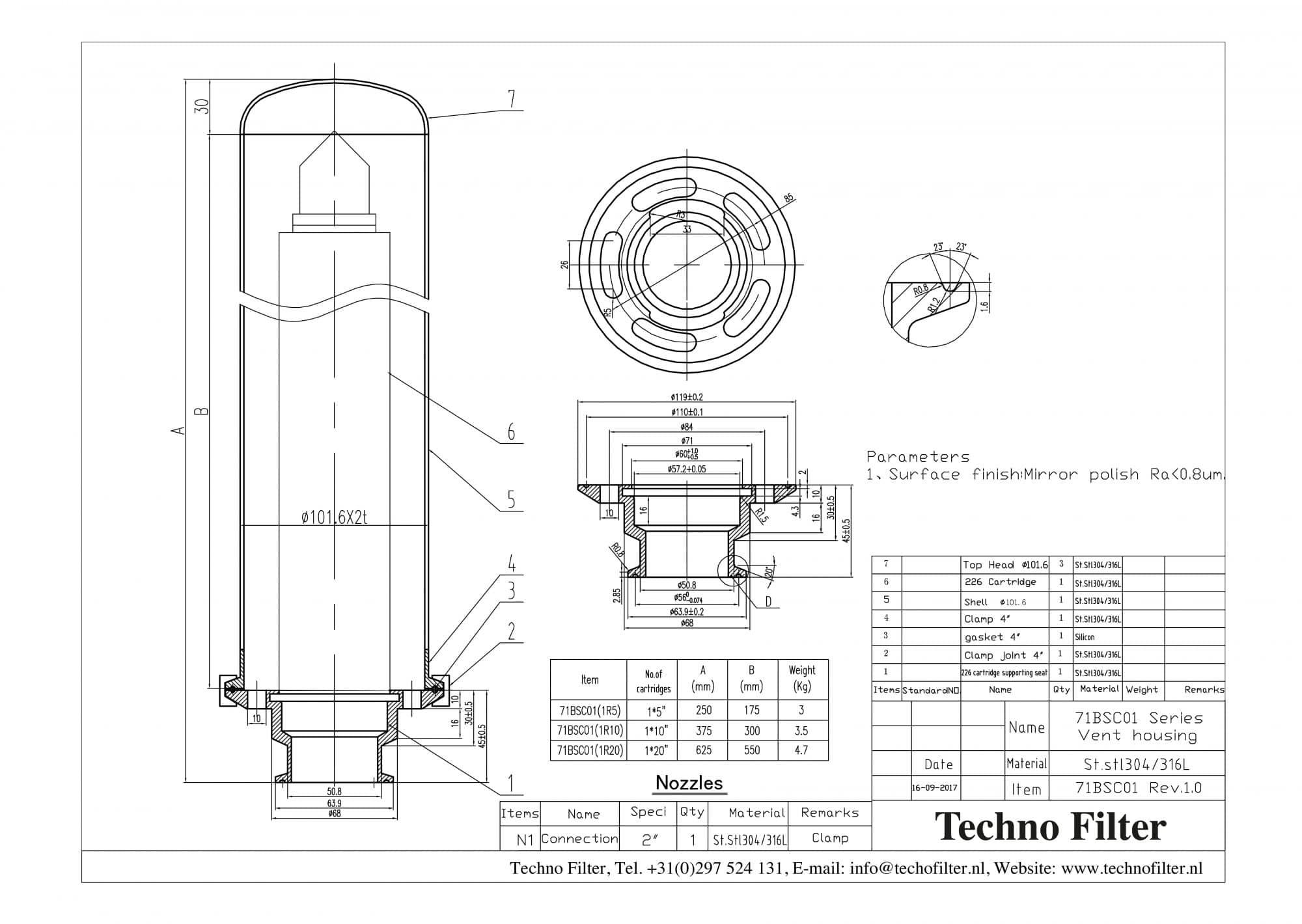 Sanitary grade filter housings - Techno Filter