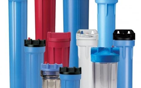 Plastic filter housings